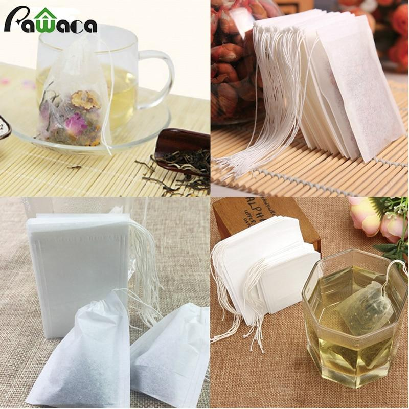 100 Pcs/pack 3 Size Empty Tea Filter Bags Disposable Drawstring Herb Loose Tea Filter With String Heal Seal Filter Paper Bags-modlily