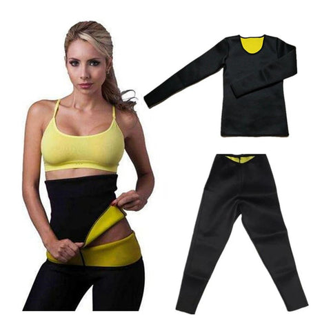 YSUKQA One Set Neoprene Slimming Pant Shirt Belt Waist-Trimmer Hot Shaper Control Corset Weight Loss Pant