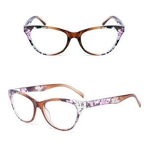 Cat Eye Women Reading Glasses Mens Resin Anti Fatigue Reading-glasses Brand Women's Glasses Transparent Spectacles-modlily