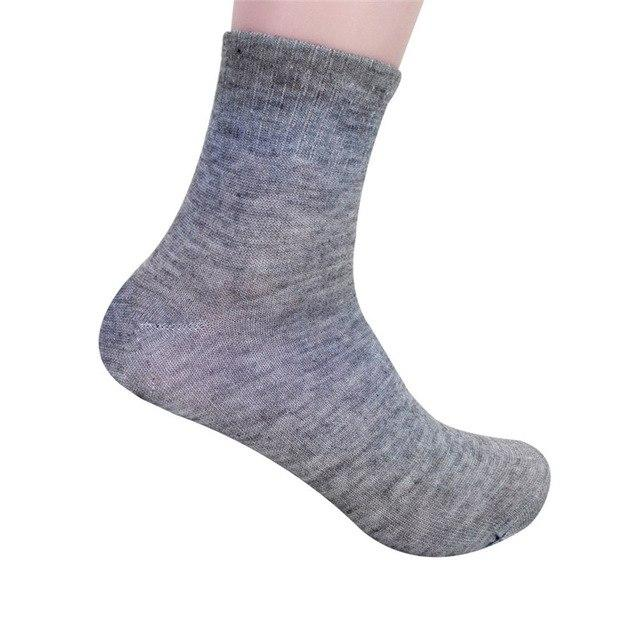 Chamsgend Drop Shipping Men's Solid Bamboo Cotton Fiber High Ankle Socks 170703-modlily