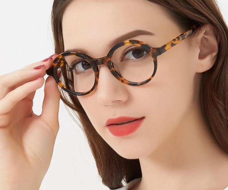 c58d04bdcefc5 Retro Optical Glasses Women Round black Tortoise Horn Rimmed Glasses F –  modlilj
