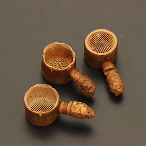 Wooden Color Bamboo Tea Strainer Drinkware Tea Accessories-modlily