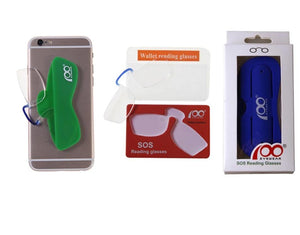 Patent Nose Clip Thin Portable SOS Reading Glasses with Phone Stands Glasses Case Mini Wallet Pince Nez Optics-modlily