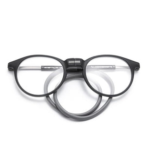 Women Men Magnetic Reading Glasses with Silicone Neck Hanging Clip On Magnet Holder Diopter Eye Glasses Frame-modlily