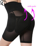 PRAYGER Plus Size Women Removable Pads Butt Lifter Control Panties High Waist Slimming Belly Shaper Fake Butt Padded Underwear-modlily
