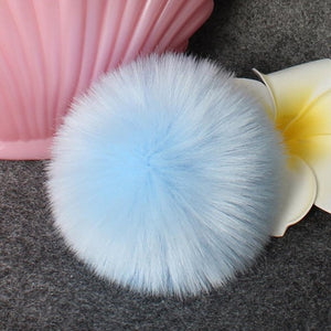 2018 Best Sale DIY Faux Fox Fur Fluffy Pompom Ball for Knitting Hat hats for women chapeu feminino Free Shippingdrop shopping-modlily
