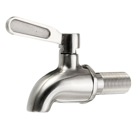 yKPuii 1PC 304 Stainless Steel Faucet Tap With Fitting For 15~23mm Hole Of Beer Or Wine Kegs Fermenting Vessels-modlily