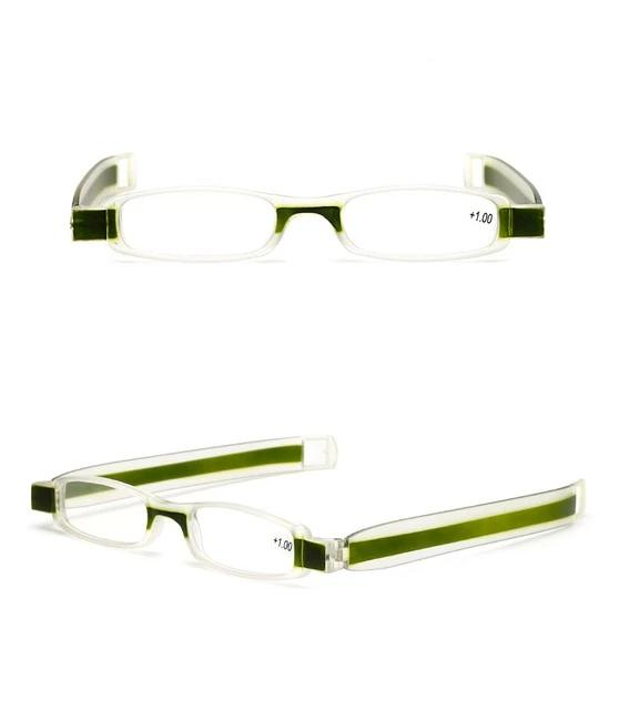 Folding Reading Glasses 360 Degree Rotation Presbyopic Foldable Reading Glasses Men Women with case 1.0 1.5 2.0 2.5 3.0 3.5 4.0-modlily