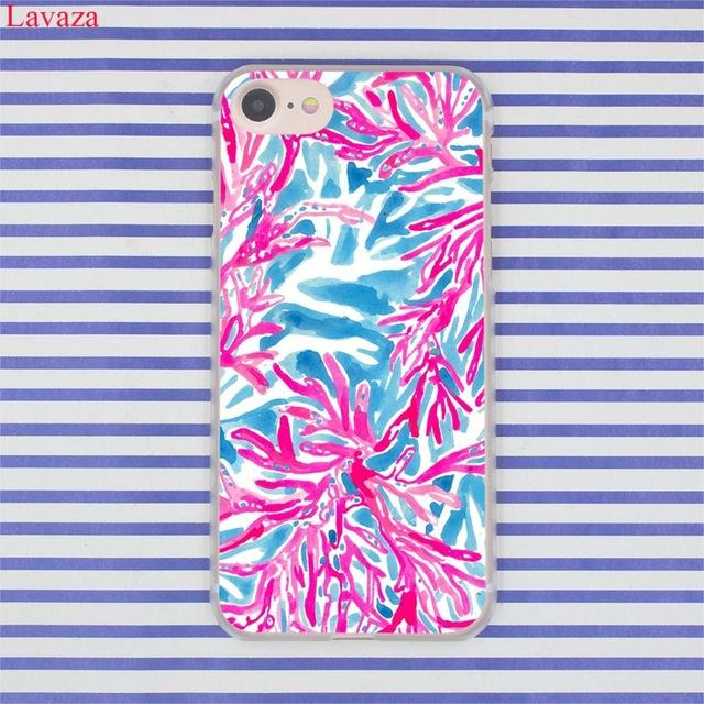3e03d5191167b Lavaza Lilly Pulitzer Summer flower Pink Hard Phone Case for Apple ...