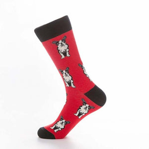 [COSPLACOOL]Style Harajuku Pug Dog Funny Happy Socks Hip Hop Men Calcetines Skarpetki Creative Men Socks Crew Chaussette Hombre-modlily