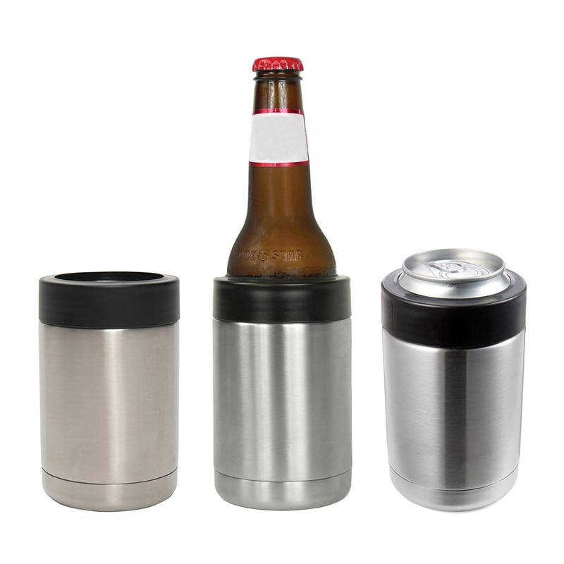 12 OZ Stainless Steel Beer Bottle Cold Keeper Can/Bottle Holder Double Wall Vacuum Insulated Beer Bottle Cooler Bar Accessories-modlily