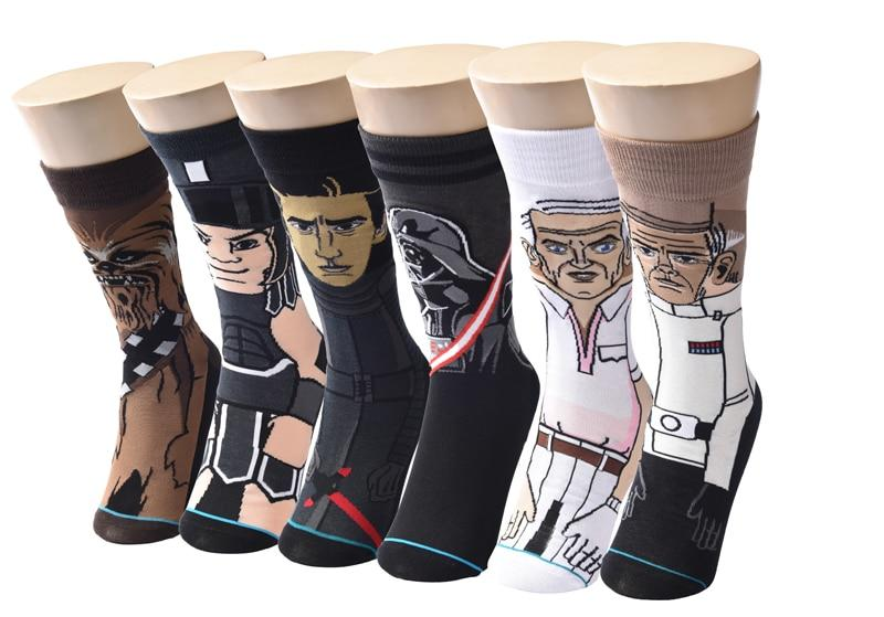 2018 Sale Hot Star Wars Autumn And Winter New Cartoon Funny Men Socks Stockings Planet Battle Vader High Quality New Socks-modlily