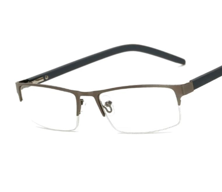 Metal Half Frame Reading Glasses Presbyopia Spectacles 1.0 to 4.0 PC Temples Fatigue Gafas +1.0 +1.5 +2.0 +2.5 +3.0 +3.5 +4.0 55-modlily
