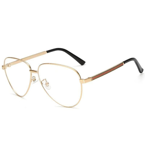 321a7a1f0f2cb 2018 Oversized Clear pilot Fake Glasses Men Women Ray Transparent Optical  Lensmodlilj-modlily