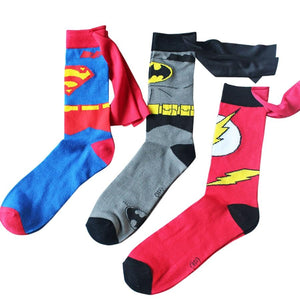 Batman Superman Cosplay Socks The Flash Cartoon Style DC Knee-High Summer Casual Personality Socks Funny Unisex Student 2018-modlily