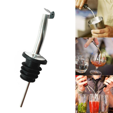 Zero Liquor Spirit Pourer Flow Wine Bottle Pour Spout Stopper Stainless Steel Cap 170215-modlily