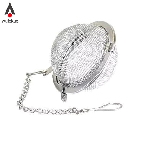 Wulekue Stainless Steel Tea Strainer Tea Ball Spice Mesh Herbal Ball Cooking Tools Kitchen Accessories-modlily