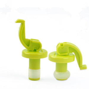 2 Pcs/set Novelty Silicone Wine Bottle Stoppers Beer Wine Cork Plug Bottle Stopper Cover Kitchen Bar Tool Interesting Gifts-modlily