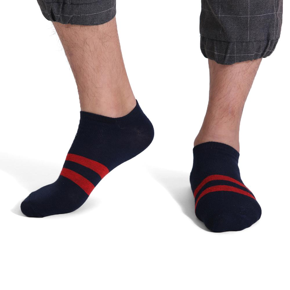 Fashion Style Casual Socks Harajuku 2-Stripes Cotton Low Cut Socks Ankle Crew Socks For Men Men's Accessories-modlily
