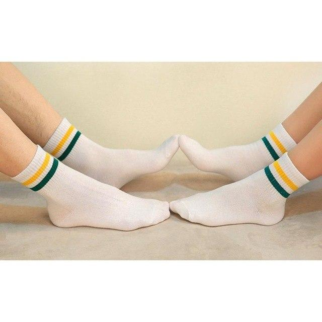 Unisex Winter Warm Socks 1 Pair Men Women Cotton Soft Comfortable Socks Striped College Style Couple Absorbent Sock Wholesale-modlily