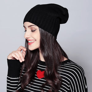 MOSNOW Hat Female Autumn Winter Fashion 2018 Brand New Classic Stripe Solid Knitted Warm Women's Hats Skullies Beanies #MZ738-modlily