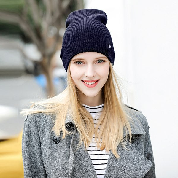 MOSNOW Hat Female Cotton Solid Brand New Fashion 2018 Winter High Quality Knitted Warm Women's Hats Cap Skullies Bonnet #MZ832D-modlily