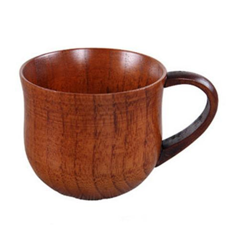 Wooden Cup Primitive Handmade Natural Wood Coffee Tea Beer Juice Milk Wood-color B(150ml)-modlily