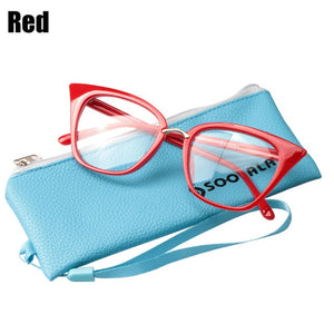 SOOLALA Cat Eye Reading Glasses Oversized Women Men Reading Glasses +0.5 0.75 1.0 1.25 1.5 1.75 2.0 2.25 2.5 2.75 3.0 3.5 4.0-modlily