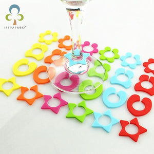24Pcs/Set Silicone Party Wine Glass Bottle Drink Cup Marker Tags Cup Identify Label Random Color Free shipping GYH-modlily