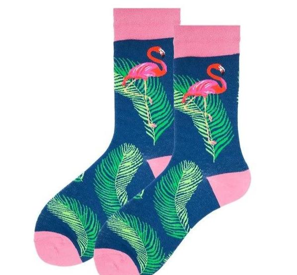 VPM Combed Cotton Men's Socks Colorful Funny Harajuku Trendy Flamingo Shark Novelty Happy Skateboard Socks Wedding Sock Gift-modlily