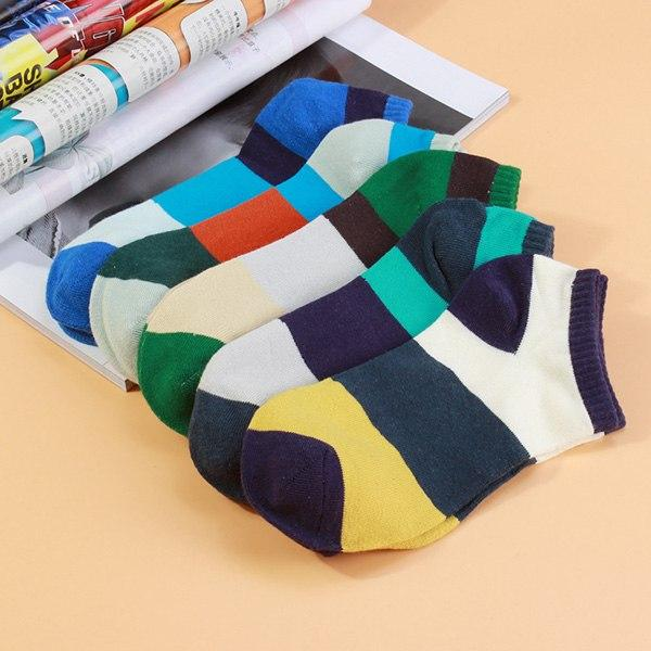Lucidity Boat Socks Men Stripe Shallow Mouth Man 	Invisible Socks Breathable Comfortable Male Cotton Socks 3pairs/lot-modlily