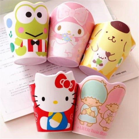 XUNZHE 1PC Cartoon Cup Tea Cup Compression  Coffee Cups Milk Tea Brush my teeth for Children Birthday Gift