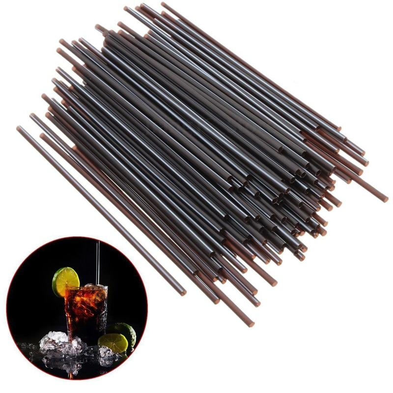 Mayitr 100Pcs/lot Plastic Mini Cocktail Straws DIY Party Straw 3mm Drinking Straw For Celebration Drink Decor Drink Tools-modlily