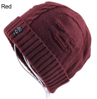 2017 Winter hats for men beanie knitted caps men skull mask bonnet skullies winter beanies hats boy wool warm cap gorro bone-modlily