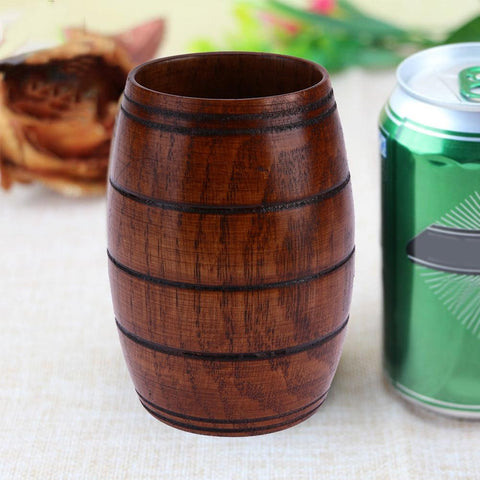 Wood Cup Natural Classical Handcrafted Jujube Big Belly Beer Coffee Tea Milk Juice Cup Tumbler-modlily