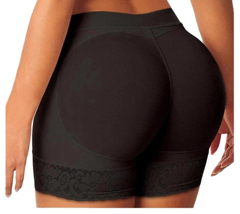 JasWell Sexy Boyshort Control Panties Woman Fake Ass Underwear Push Up Padded Panties Buttock Shaper Butt Lifter Hip Enhancer-modlily