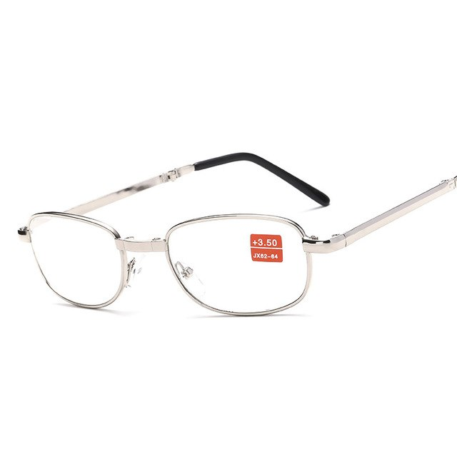 MAXMESSY Fashion Portable Folding Metal Reading Glasses Men Magnifier Glasses For Sight Women Optical Presbyopic Eyeglasses F072-modlily
