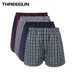 THREEGUN Mens Underwear Boxers Loose Shorts Men'S Panties Cotton Comfortable And Soft The Large Arrow Pants Outwear Beach Short-modlily