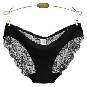 Hot sale! l women's sexy lace panties seamless cotton breathable panty Hollow briefs Plus Size girl underwear dropshiper-modlily