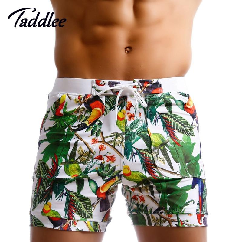 Taddlee Brand Men Swimwear Swimsuits Beach Board Shorts Boxer Trunks Sea Casual Short Bottoms Quick Drying Gay Pockets Shorts-modlily