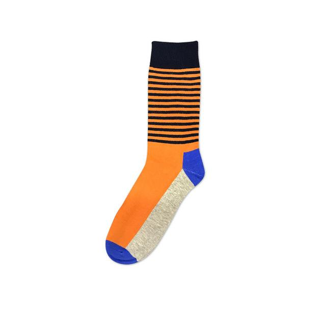 [COCOTEKK] 2018 the latest design fashion men's Cotton Business socks Brand colorful dress socks Gradient Color popular Style-modlily