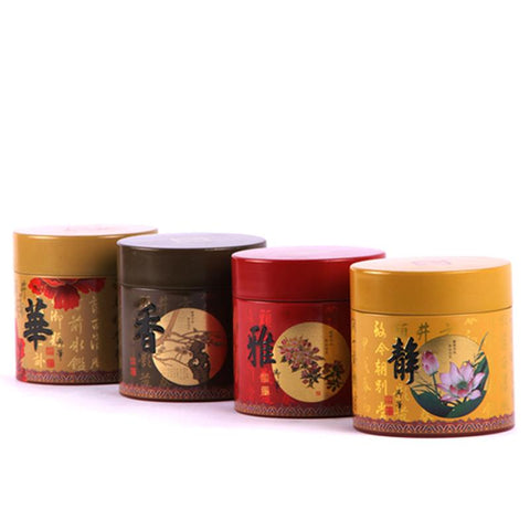 Xin Jia Yi Packaging Tea Metal Box Round Collection Storage Container Tin Boxes for Travel Gift Wedding Favor Candy Cans-modlily