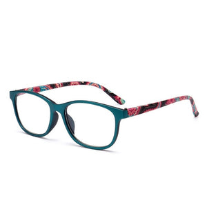 New Flower Reading Glasses Presbyopia Eyeglasses Reading Glasses Men Women 1.0 1.5 2.0 2.5 3.0 3.5 4.0 Diopter for Old People-modlily