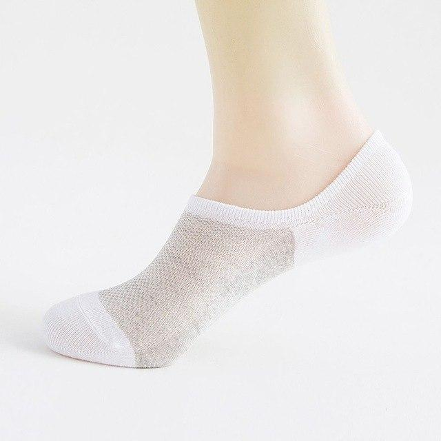 Unisex Socks Slippers Bamboo Fiber Non-slip Silicone Invisible Boat Compression Male Ankle Socks-modlily