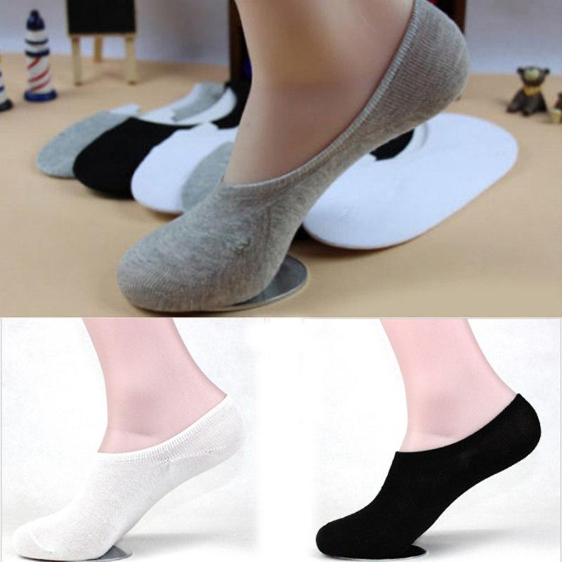 5 Pairs Men's Socks No Show Slipper Loafer Boat Socks No Show Soft Casual Cotton Sock for Men White Black Gray Socks Cotto-modlily