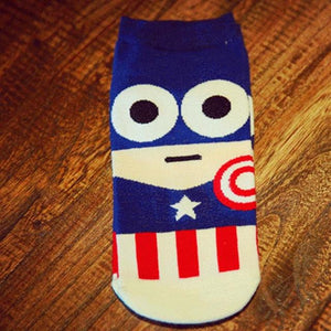 Fashion Meias Harajuku Super Hero Cartoon Man Socks Spring Summer Ankle Cotton Socks Men Boat Sock 7 Colors Top Quality For Boys-modlily