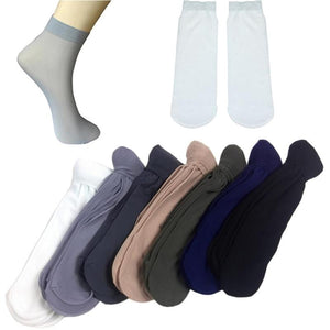 10 Pairs Men Summer Thin Section Polyester Straight Foot Short Stockings Comfortable Fiber Soft Ultra Silk Anti-odor Middle Sock-modlily