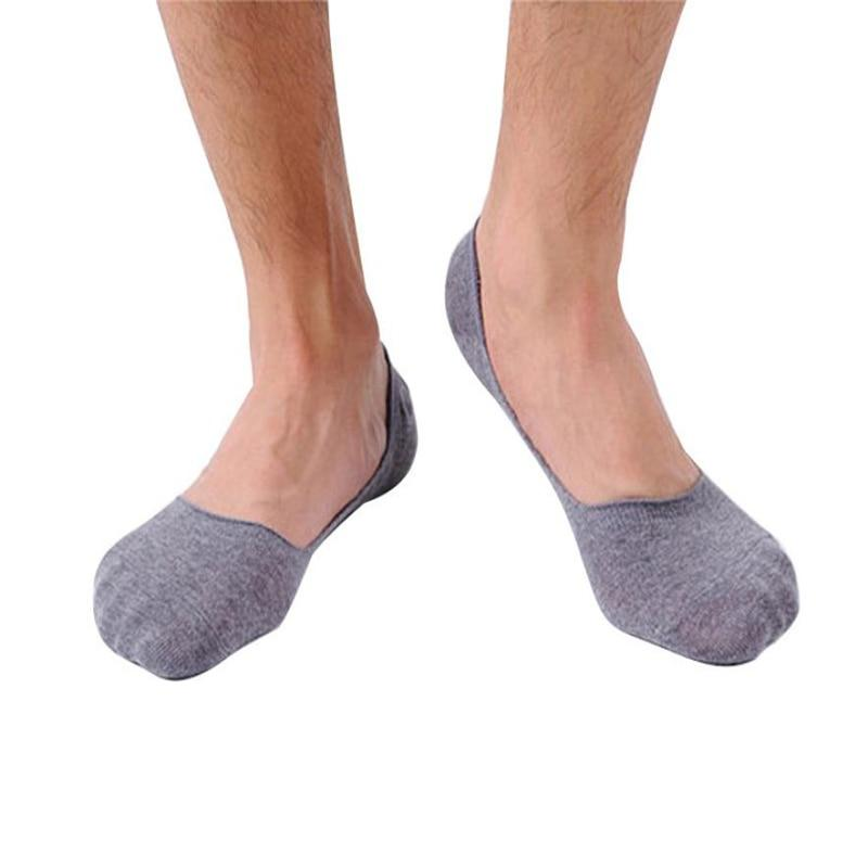 snowshine4 # N03 2018 Top Selling 1 pairs man Scosk Simple Thin Shallow mouth invisible boat cotton Slip socks Free Shipping-modlily