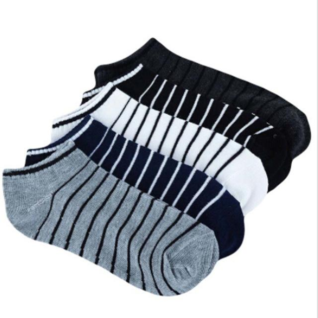 Great Men Sock 10 Pieces =5 Pairs /lot Package Male Summer Light Socks Stripe Cotton Short Sock Wholesale Couples Socks Sale-modlily
