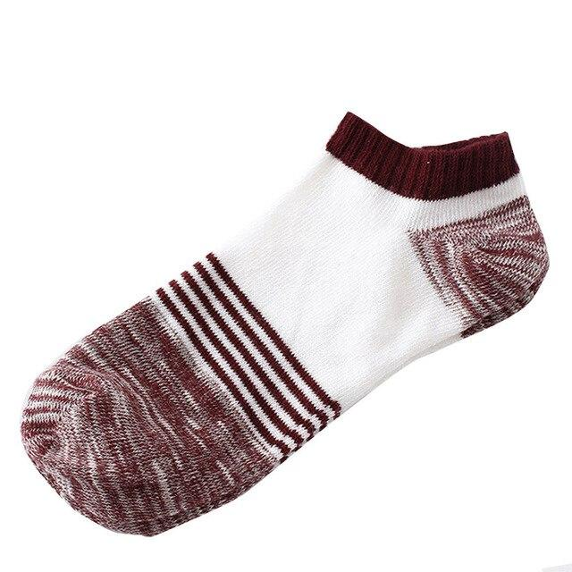 Male Short Socks for Boy Men HIgh Quality Casual Men's Socks Soft Cotton in Five Colour calcetines mujer Warm in Winter-modlily